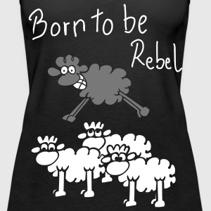 rebel sheep for dark shirts Tops - Women's Premium Tank Top