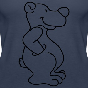 Cute bear with pocket Tops - Women's Premium Tank Top