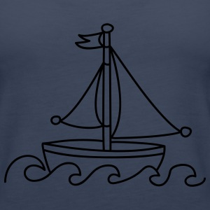 Blue Sailboat Tops - Women's Premium Tank Top