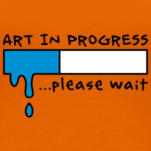 Art in Progress - Loading, please wait Camisetas - Camiseta premium mujer