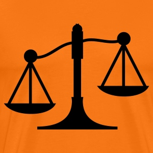 lawyer scales profession T-Shirts - Men's Premium T-Shirt
