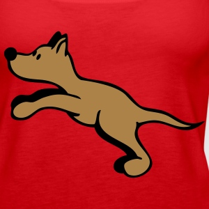 Dog jumping Tops - Women's Premium Tank Top