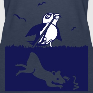 Sky blue bird and rat Tops - Vrouwen Premium tank top