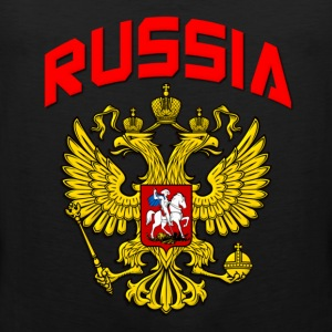 Russia Crest T-Shirts - Men's Premium Tank Top