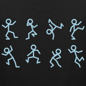 Dancing stick figure T-Shirts - Men's Premium Tank Top