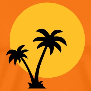 Palm Trees Sun T-Shirts - Men's Premium T-Shirt
