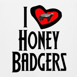 I Love Honey Badgers T-Shirts - Men's Premium Tank Top
