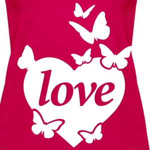 Love Butterflies Tops - Women's Premium Tank Top