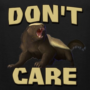 Honey Badger Don't Care T-Shirts - Men's Premium Tank Top