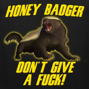 Honey Badger Don't Give A Fuck T-Shirts - Men's Premium Tank Top
