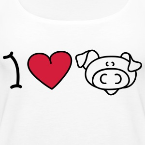 I love pigs Tops - Vrouwen Premium tank top