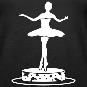 Music box with ballerina figure Tops - Women's Premium Tank Top