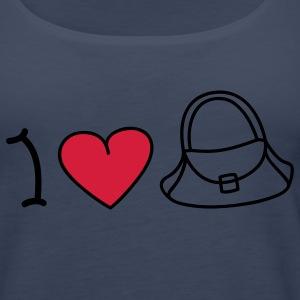 I love handbags Topper - Premium singlet for kvinner