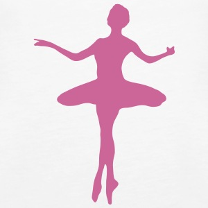 Ballet dancer with Ballet Dress  Tops - Women's Premium Tank Top