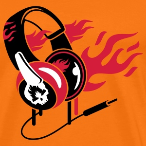 Headphones and flames T-Shirts - Men's Premium T-Shirt