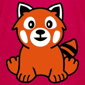 Red Panda Bear Topper - Premium singlet for kvinner