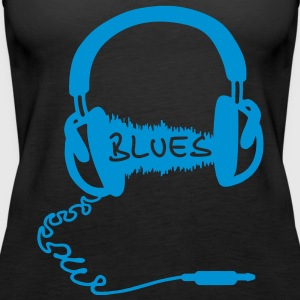 Kopfhörer Audio Wave Motiv : Blues Musik , Audiophil  Tops - Frauen Premium Tank Top