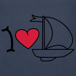I love sailing Topper - Premium singlet for kvinner