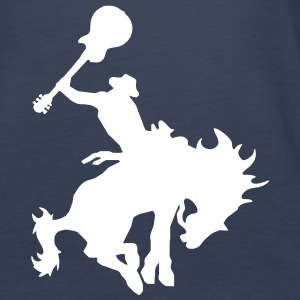 Guitar Hero rodeo cowboy on horseback, horse Tops - Women's Premium Tank Top