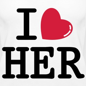 i heart her Tops - Frauen Premium Tank Top