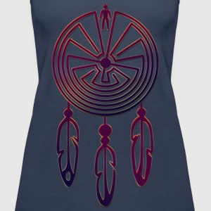 MAN IN THE MAZE Dreamcatcher / Traumfänger colored | Frauen Tank Top - Frauen Premium Tank Top