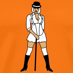 3 colors - Clockwork Orange Pinup Girl Koszulki - Koszulka męska Premium