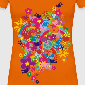 NEW FLOWER POWER RAINBOW | Frauenshirt klassisch - Frauen Premium T-Shirt