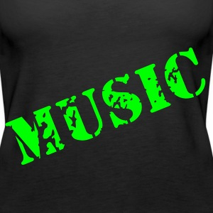 music as a stamp print design Tops - Women's Premium Tank Top