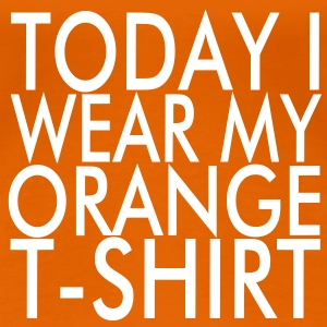 Orange T-Shirt - Frauen Premium T-Shirt