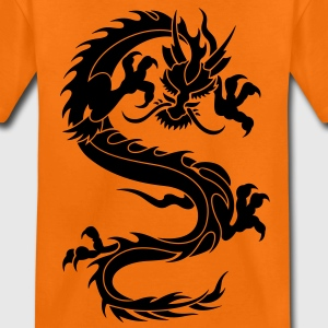 chinese dragon tribal Kids' Shirts - Teenage Premium T-Shirt