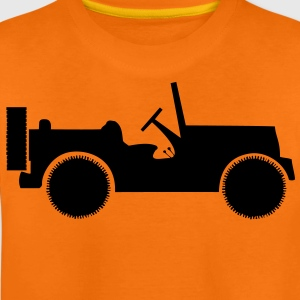 military jeep car Børne T-shirts - Teenager premium T-shirt