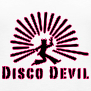 devil, disco, party, drugs, smoking pot, celebrate, celebration tonight, sex, retro, 70s, 60s, club, sound, music, drink, smoke or drink, noise, Tops - Women's Premium Tank Top
