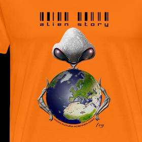 Motif ~ Alien story homme orange