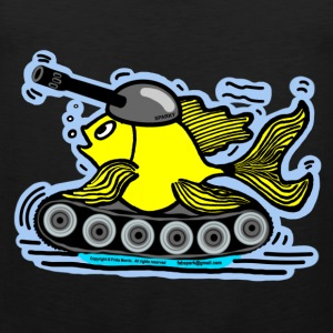 Fish Tank with a cannon,  sparky fabspark - Men's Premium Tank Top