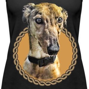 Greyhound 001 Tops - Women's Premium Tank Top