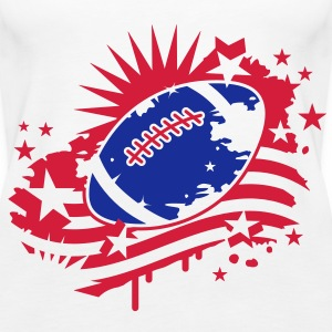 Football with an American flag, Stars and Stripes graffiti Tops - Women's Premium Tank Top