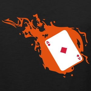 carte poker card as flamme carreau1 Tee shirts - Débardeur Premium Homme