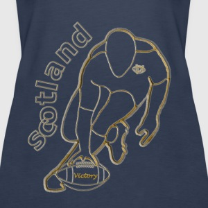 gold white scotland victory rugby Tops - Women's Premium Tank Top
