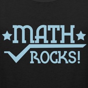 math rocks with a pi symbol and stars mathematics T-Shirts - Men's Premium Tank Top