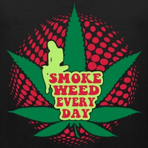 smoke weed every day T-Shirts - Men's Premium Tank Top
