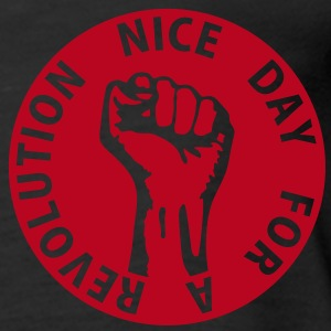 1 color - nice day for a revolution - against capitalism working class war revolution Tops - Women's Premium Tank Top