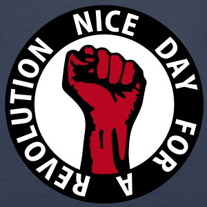 3 colors - nice day for a revolution - against capitalism working class war revolution Tops - Women's Premium Tank Top