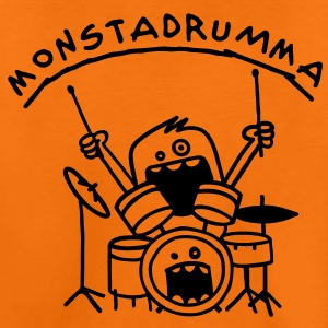 Monster Drummer Kids' Shirts - Kids' Premium T-Shirt