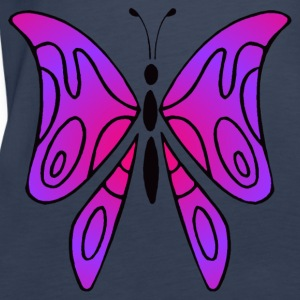 Pink and purple butterfly - Top women - Women's Premium Tank Top