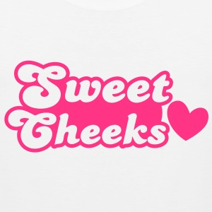 sweet cheeks with love heart (Great for pants!) T-Shirts - Men's Premium Tank Top