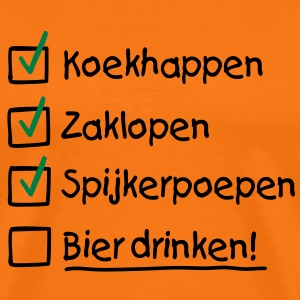 To do list Koninginnedag T-shirts - Mannen Premium T-shirt