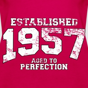 established 1957 - aged to perfection (uk) Tops - Women's Premium Tank Top
