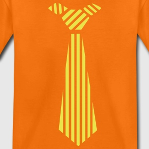 Golden orange tie Design Kids' Shirts - Kids' Premium T-Shirt