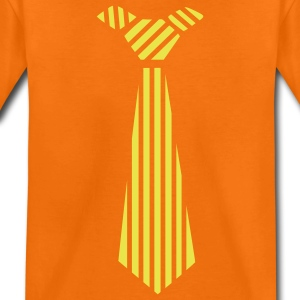 Orange doré cravate design  Tee shirts Enfants - T-shirt Premium Enfant