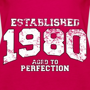 established 1980 - aged to perfection (uk) Tops - Women's Premium Tank Top